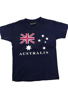 Kids baby T shirt Australia Australian Day Souvenir 100% cotton AU Flag