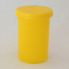 30x Film canisters, containers, pots, tubs with lids Yellow craft storage box