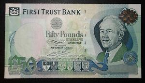 2009 £50 First Trust Bank Limited Belfast Ireland P-138bp -> aUNC <- PROOF
