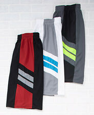 Men's Set Of 3 Pieced Active Shorts Gym Lounging Running White Set XL 40/42