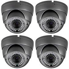 4 Night Vision Cameras 700 TVL 2.8-12mm MP Lens 42 Infrared LEDs 130 Feet Range
