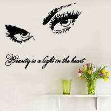Eyes Wall Decals Art Quote Beauty Is Vinyl Sticker Beauty Salon Home Decor MS285