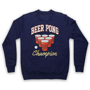 BEER PONG CHAMPION BEIRUT DRINKING GAME RED CUP FUNNY ADULTS UNISEX SWEATSHIRT