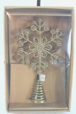 Christmas Tree Topper Gold Jewelled Glittery Metal Star Trimsetters NIB NEW