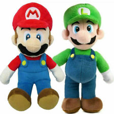 2 New Super Mario Bros Plush Doll Mario Luigi Soft Toy Stuffed Animal Teddy 25cm