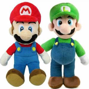 2 New Super Mario Bros Plush Doll Mario Luigi Soft Toy Stuffed Animal Teddy 25cm