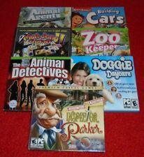 7 BRAND NEW KIDS PC GAME LOT! CARS ANIMAL DOG ZOO BOY GIRL