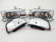 Headlights Headlamps for M8#G Toyota Corolla AE92 FX GT E90 EE90 sedan 89-92 WH