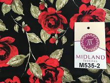 "vintage blumen shabby chic rose printed 100% baumwolle popeline stoff 58"" m535 mtex"