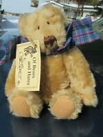 """VINTAGE TEDDY BEAR 9"""" SMALL ARTIST SUSAN OF BEARS AND HARES SIMPLY STITCHED TAG"""
