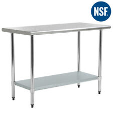 """Refurbished 24"""" x36"""" Steel Work Table Stainless Commercial Kitchen Table"""