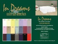 """3/' 6/"""" x 7/' bed 107cm x 214cm fitted sheets 10/""""box easycare polycotton 21 colours"""