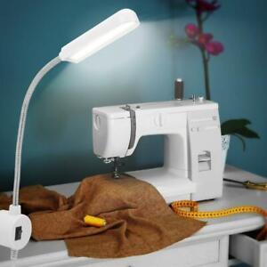 LED COB Gooseneck Sewing Machine Light with Magnetic Base Switch 90-265V EU Plug