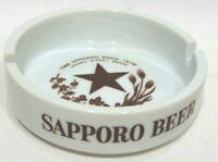 Sapporo Beer Ashtray Vintage Japan Oldest Honored 1876 Otai Ceramic Cigarette