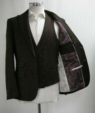 Herren Harry Brown Slim Fit dunkelbraun 3pc Anzug (40r)... ref: 6831