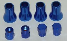 Set of 4 Blue Color Cover of Stem and Cap For TR413 Tire Valve