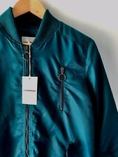 [CR LOVE] SZ M NEW! [COUNTRY ROAD] SATIN BOMBER MINERAL GREEN JACKET COAT 12