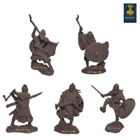 Runecraft Miniatures Toy Soldier Vikings 9th-11th Centuries Scale 1/32 Set #4