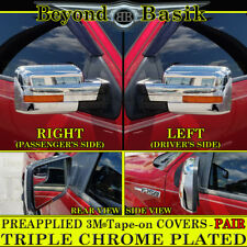 2009 2010 2011 2012 2013 2014 Ford F150 TRIPLE Chrome Mirror COVERS wSignal hole