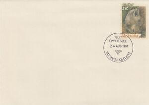 (13895) Australia Postal Stationery FDC Wildlife 1987
