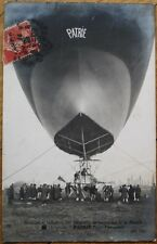 Airship/Dirigible/Blimp 1907 Realphoto French Aviation Postcard-Patrie-Nacelle 2