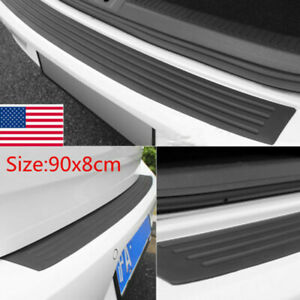 1pcs Accessories Car Rubber Rear Guard Bumper Protector Trim Cover US Shipping