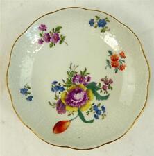 Antico piattino di porcellana di Meissen fiori bordo intrecciate
