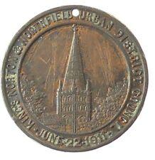 1911 Great Britain CORONATION OF GEORGE V: KINGS NORTON & NORTHFIELD bronze 38mm