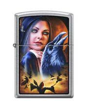 Zippo 3533 Mazzi Morrigan Woman With Ravens Brushed Chrome Finish Lighter