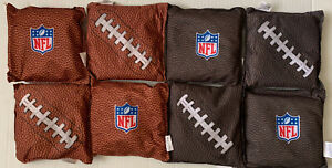 Wild Sports NFL Football Replacement Cornhole Bean Bag Football Design Set of 8