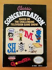 *** CLASSIC CONCENTRATION COMPLETE CIB*** NES nintendo game games untested