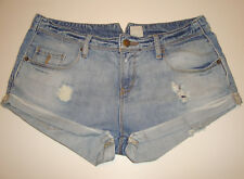 "GORGEOUS SASS&BIDE DISTRESSED DENIM SHORTS - 28 ""ATOM OF LOVE"""