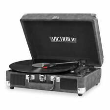 Victrola The Journey Bluetooth Suitcase Record Player with 3-speed Turntable