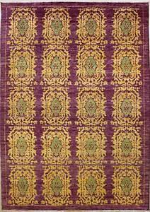 Rugstc 6x9 Senneh Chobi Ziegler Purple Area Rug,Natural dye, Hand-Knotted,Wool