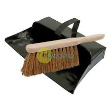 Strong Trade Metal Dustpan And Soft Wooden Hand Brush Dustpan Set