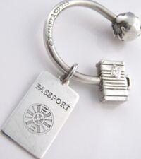 Tiffany & Co. Sterling Silver Globe Passport Keychain Key Ring in Tiffany Pouch