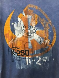 Vintage Star Wars K-2S0 T-Shirt Size M Gently Worn Darth Vader Han Solo Disney