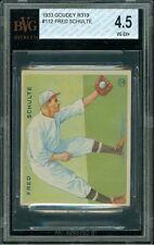 1933 Goudey #112 Fred Schulte Washington Senators - BVG 4.5 VG-EX+