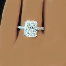 GIA Certified Radiant Cut Diamond Engagement Ring 2.40 Carat 18k White Gold