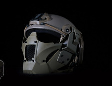 Airsoft Gitter Maske Mesh Hard Shell Half Face Mask FAST Helmet Full Face TAN