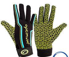 Optimum Velocity Full Finger Glove Black Blue Yellow REDUCED