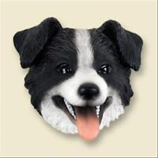 Border Collie Dog Head Painted Stone Resin Magnet
