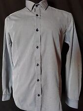 MENS SHIRT YD LONG SLEEVED BUTTON UP 100% COTTON SIZE LARGE