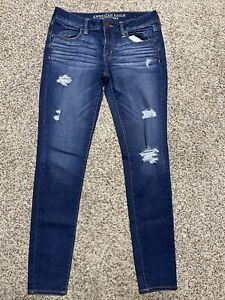 AE AMERICAN EAGLE OUTFITTERS JEGGING SUPER STRETCH WOMENS JEANS SIZE 8
