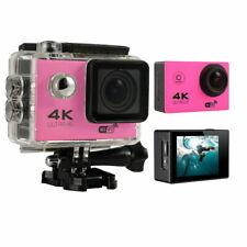 4K 16MP HD Sports Action Camera wifi Waterproof Helmet Cam for Go pro bag Pink