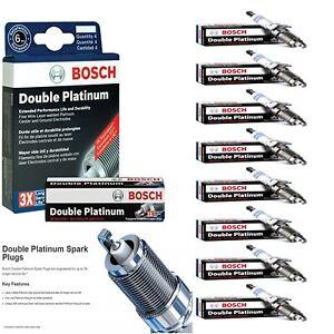 8 Bosch Double Platinum Spark Plugs For 2012 BMW 650I V8-4.4L