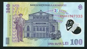 i608 Romania 100 lei 2018 * ( 2021 ) Lucky Fancy Triple Serial Number 333