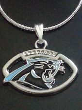 Carolina Panthers Necklace/Pendant NFL Football (Sterling Silver Chain)