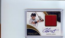 2016 Chipper Jones Atlanta Braves Panini Immaculate AUTOGRAPH Red Patch #/25