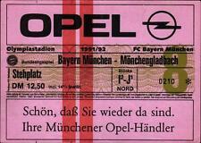Ticket BL 91/92 FC Bayern München - Borussia Mönchengladbach, Stehplatz